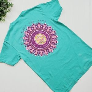 Simply Southern Mint Pineapple Medallion Tee sz Sm